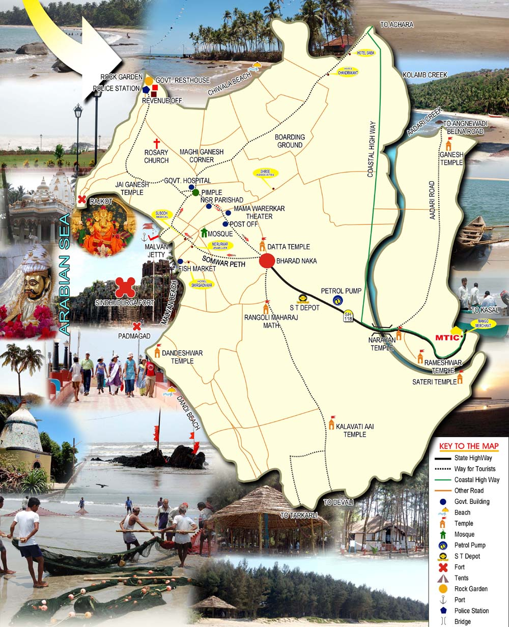 Tourist Places To Visit In Pune: Malvan And Tarkarli Maps