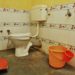 Western style Toilet and bath